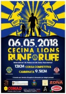 Cecina lions Run for life