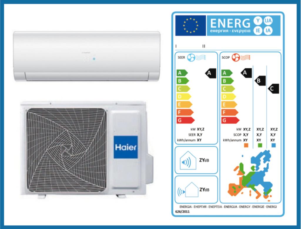 Etichettatura energetica climatizzatore